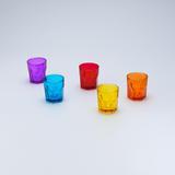 Jogo de 6 Copos Faces Coloridos para Água - Lyor design