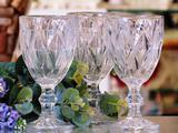 Jogo de 6 taças 260ml Diamante/Diamond vidro transparente - Lyor