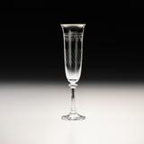 Jogo de 6 Taças Kleopatra Pantografada Dourada para Champagne - Bohemia