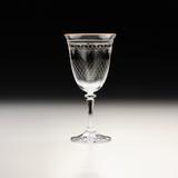 Jogo de 6 Taças Kleopatra Pantografada Dourada para Vinho Branco - Bohemia