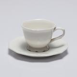 Jogo de 6 Xícaras para Café com Pires Alto Relevo - Wolff