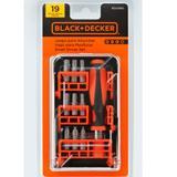Jogo de bits para parafusar com 19 peças - BDA5360 - Black + decker