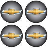 Jogo de Emblemas Resinados 48mm Chevrolet GM Para Calotas Rodas- Botom 4 Peças