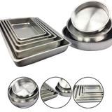 Jogo De Forma Assadeira Tabuleiro Bolo Aluminio Alta 8 Peças - Alumínio extra forte