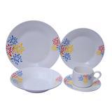 Jogo de Jantar 20 Peças Porcelana Innova - Floral Candy 25,5 cm - Evolux