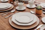 Jogo de Jantar Prisma Branco 42 Peças Porcelana Schmidt