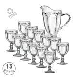 Jogo de Jarra com 12 Taças 260 ml Libélula Clear Class Home
