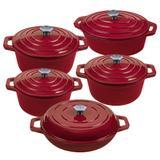 Jogo de Panelas Vermelhas Stex Cookware