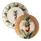Jogo de Pratos Rasos e de Sobremesa Porto Brasil Pineapple Império 6 Unidades