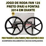 Jogo De Roda Liga Leve Fan 125 Scud Freio À Disco 2014...