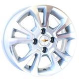 Jogo de Rodas Chevrolet Onix Ltz Aro 14 x 6,0 4x100 ET39 R42 Prata Diamantado - Kr wheels