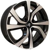 Jogo de Rodas Citroen Cactus Aro 16 x 6,0 4x108 ET25 ZK865 Preto Diamantado - Kr wheels