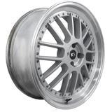 Jogo de Rodas Esportivas BBS Lemans Aro 15 x 6,0 4x100 ET38 K50 Prata Diamantado - Kr wheels