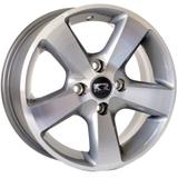Jogo de Rodas Esportivas K27 Aro 14 x 6,0 4x100 ET40 Prata Diamantado - Kr wheels