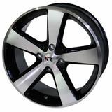 Jogo de Rodas Esportivas K27 Aro 14 x 6,0 4x108 ET40 Preto Diamantado - Kr wheels