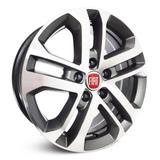 Jogo de Rodas Fiat Toro Aro 16 x 6,0 5x110 ET28 R73 Grafite Fosco Diamantado - Krmai