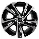 Jogo de Rodas Hyundai Creta Prestige 2020 Aro 16 x 6,0 5x114,3 ET40 S16 Preto Diamantado - Kr wheels