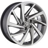 Jogo de Rodas New Polo Aro 15 x 6,0 5x100 ET38 Volkswagen R93 Grafite Diamantado - Kr wheels