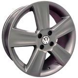 Jogo de Rodas Saveiro Cross Aro 14 x 6,0 4x100 ET38 R7 VW Grafite Fosco - Kr wheels