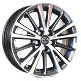 Jogo de Rodas Toyota Corolla 2015 Aro 16 x 6,0 5x100 ET39 R64 Grafite Diamantado - Krmai