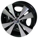 Jogo de Rodas Trevo Aro 13 x 5,5 4x108 ET40 R39 Preto Diamantado - Kr wheels