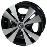 Jogo de Rodas Trevo Aro 14 x 6,0 4x108 ET40 R39 Preto Diamantado - Kr wheels
