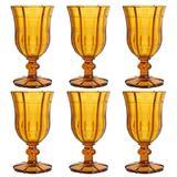 Jogo de taças em vidro Dynasty Chateau 280ml 6 peças ambar