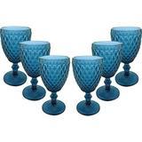 Jogo de Taças para Água Azul Verre com 6 Peças - Mimo Style - Não definido