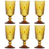Jogo de Taças Para Vinho 205ml - Amarelo - Lyor - Mimo style