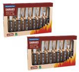 Jogo de talheres pra churrasco 24 peças Polywood Tramontina