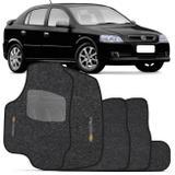 Jogo de Tapete Carpete Chevrolet Astra Hatch Sedan 1999 a 2012 Grafite Bordado 5 Peças - Zp