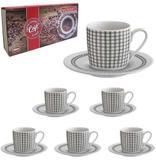 Jogo De Xicara Para Cafe De Porcelana  Com 12 Pecas 90m - Melhores ofertas.net