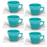 Jogo de Xícaras Chá 12 Peças Quartier Domo 200 ml Oxford