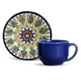 Jogo de Xícaras de Chá Mônaco Indian Porto Brasil 6 Unid 160 ml não são grandes, mas são um encanto!