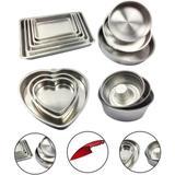Jogo Forma Assadeira Retangular Redonda Coração Cone 14 Peça - Alumínio extra forte