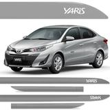 Jogo Friso Lateral Toyota Yaris Sedan Prata Lua Nova Cor Original - Kl store