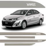 Jogo Friso Lateral Toyota Yaris Sedan Prata Premium Cor Original - Kl store