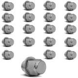 Jogo Porcas de Roda M12 x 1,50 x 30 Corolla e Fielder com Rodas Originais Cromado 20 Peças - Emblemax