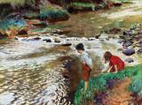 Jovens Pescadores - Knight  Tela Enorme Para Quadro - Santhatela
