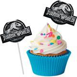 Jurassic World New Bandeirinha para Docinho c/8 - Festcolor