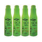 Kellan SOS Tratamento Capilar Biorestore Óleos hidratantes 4 Passos - Kellan cosmeticos
