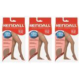 Kendall 1707 Meia Calça Média Compressão S/ Ponteira Mel Gg (Kit C/03)