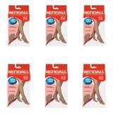 Kendall 1871 Meia 3/4 Média Compressão S/ Ponteira Mel P (Kit C/06)