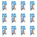 Kendall 2272 Meia 3/4 Suave Compressão S/ Ponteira Mel M (Kit C/12)