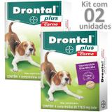 Kit 02cx vermífugo drontal plus carne cães até 10kg - Bayer