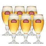 Kit 06 Taças De Vidro Stella Artois Para Cerveja 250ml - Ambev