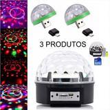 Kit 1 Globo Festa Bola Maluca + 2 Mini Globo Celular USB V8 - Luatek