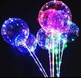 Kit 10 Balão Bubble De Led Bexiga Transparente Colorido Com Vareta Festa Decoração - Festas  decor