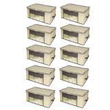 Kit 10 Caixa Organizadora Closet Roup Coberta 45x45x20cm - Universal vendas