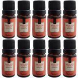 Kit 10 Essências Via Aroma Maçã Com Canela De Aromatizador Aromaterapia 10ml